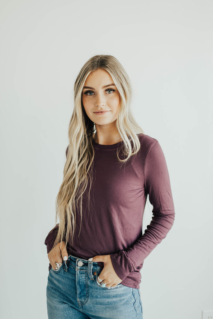 Simple Long Sleeve Tee - Many Colors