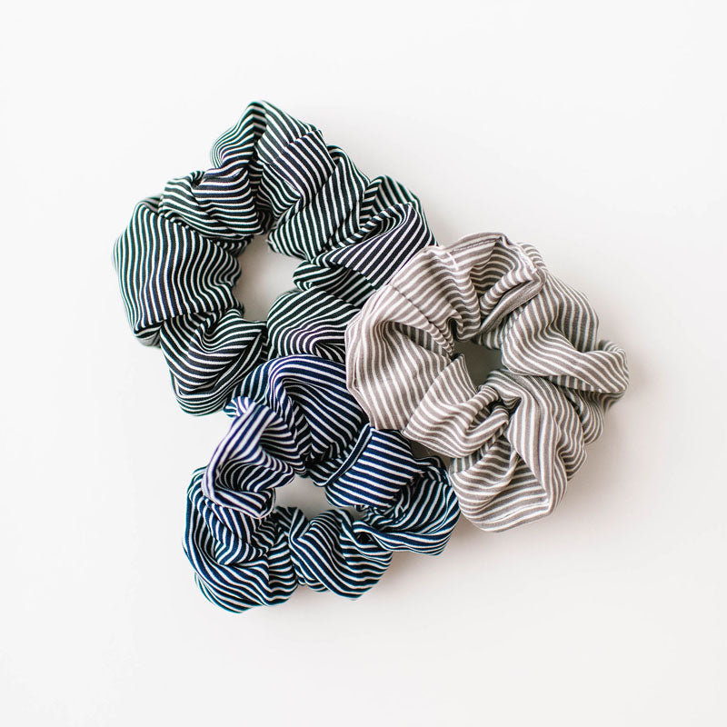 Set of 3 Striped Scrunchies