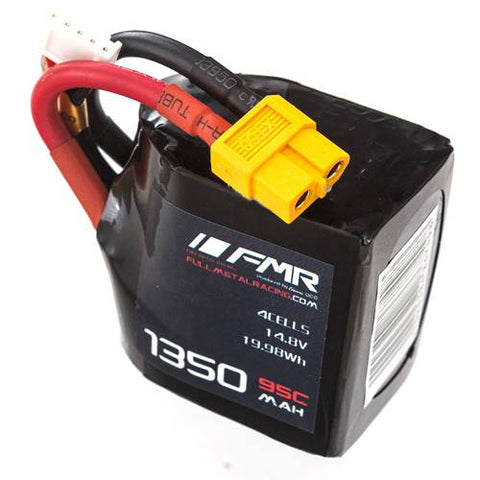 FMR 1350mAh tetragon 4s 95c square lipo battery - 168 Energy