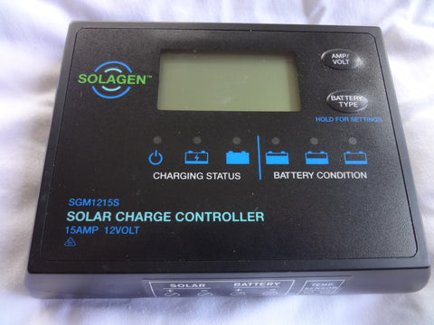 12V 15A programmable LCD solar controller sealed dust/water proof - 168 Energy