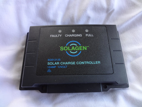 12V 12A programmable LED solar controller sealed dust/water proof - 168 Energy