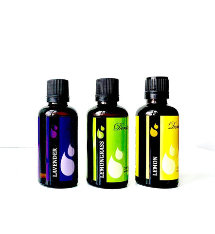 Pure Lavender-Lemongrass-Lemon or Orange Essential Oils