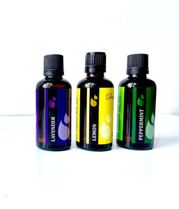 Pure Peppermint-Lavender-Lemon or Orange Essential Oils