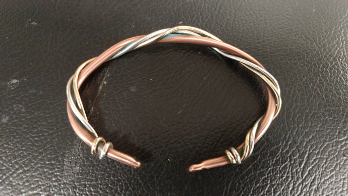 Gold, Silver and Copper Tri-Bracelet