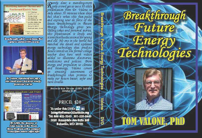 Breakthrough Future Energy Technologies  DVD  Electronic version