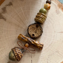 Forest Acorn Bead Set II