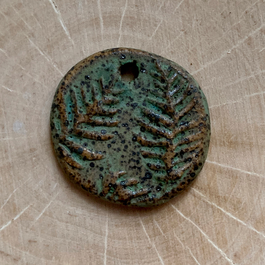 Shadow Green Forest Ferns Pendant