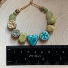 Crystal Turquoise Heart Bead Set