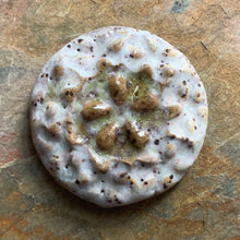 Blossom Cabochon - Rustic White and Olive
