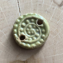 Small Spiral Fossil Disc - Wasabi Green