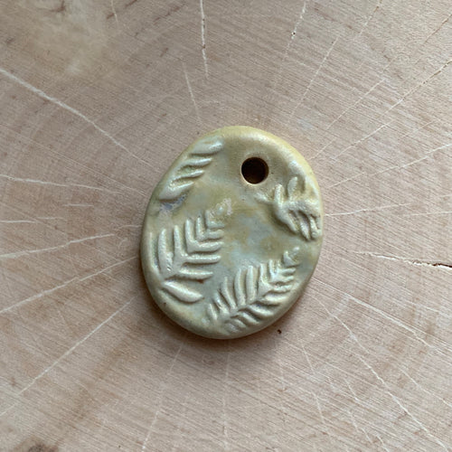 Frost Green Forest Ferns Charm