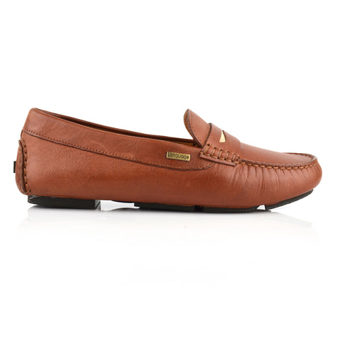LW035 - Language Milan Women'S Casual Brown Drivers