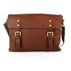 LG018 - Collezione Kansas Men's Dark Brown Satchel Bag