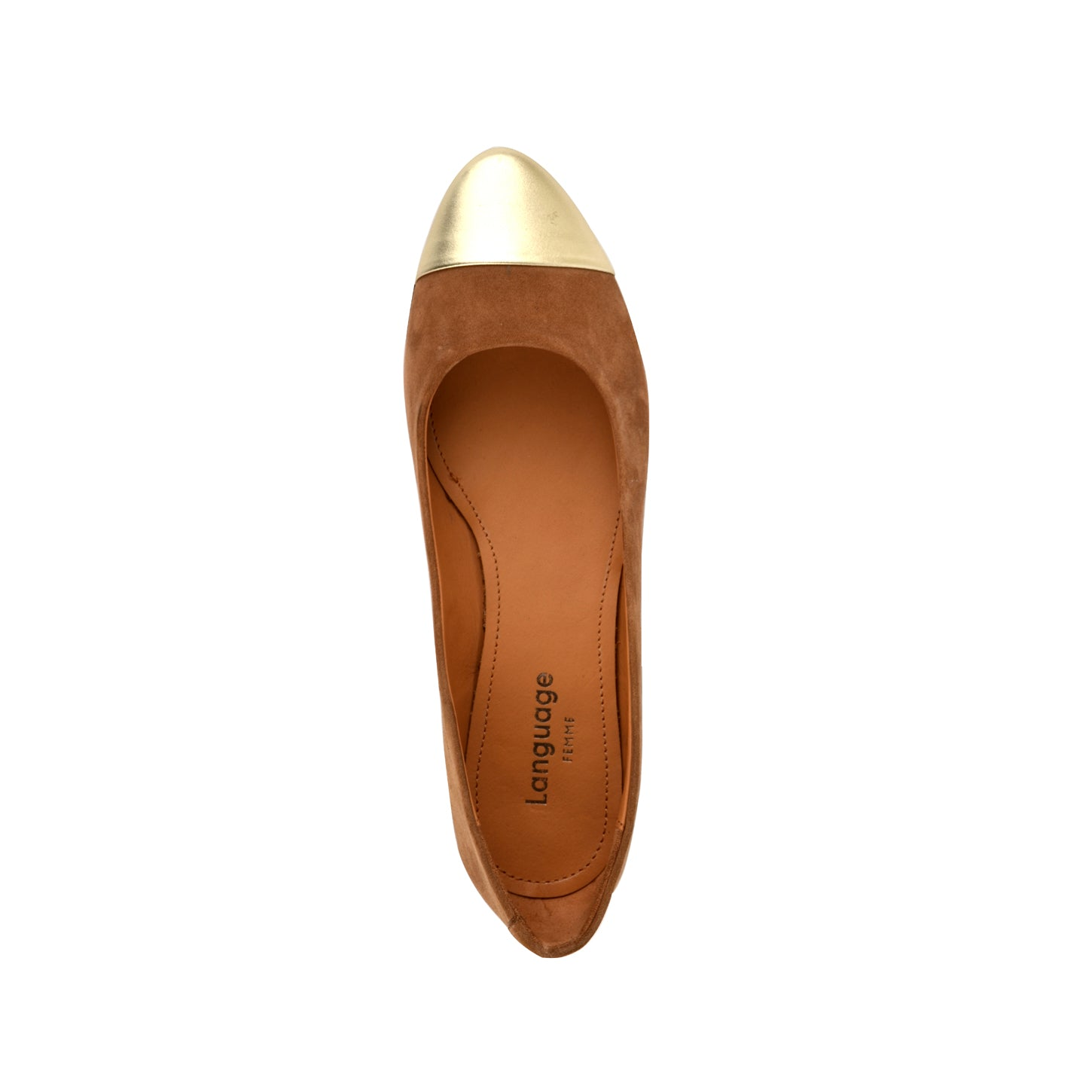 LW071 - Language Gigi Women'S Casual Tan Ballerina