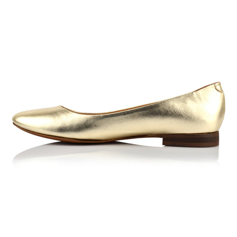 LW070 - Language Bella Women'S Casual Gold Ballerina