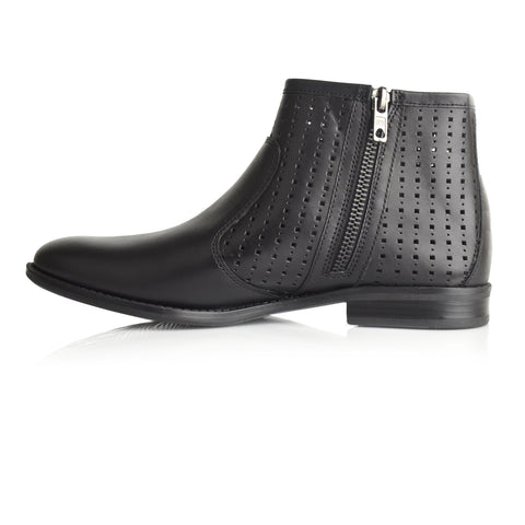 LW046 - Language Maya Women's Casual Black Boots