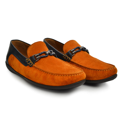 LM871 Language WATCH Men's TAN / NAVY Casual LOAFERS