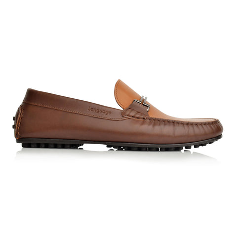 LM598 Language CODE Men's BROWN / TAN Casual LOAFERS