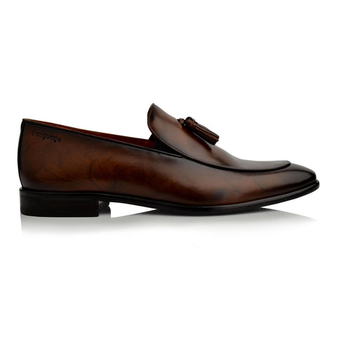 LM940 Language CHAN Men's BROWN DRESS SLIP ON
