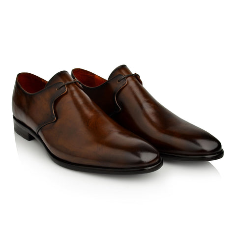 LM942 Language FISHER Men's BROWN DRESS DERBY