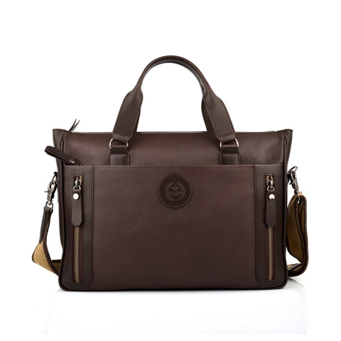 LG011 - Collezione Mexico Men's Brown Briefcase Bag