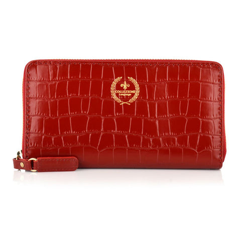 LG16001 - Collezione Paris Women's Dark Red Wallet