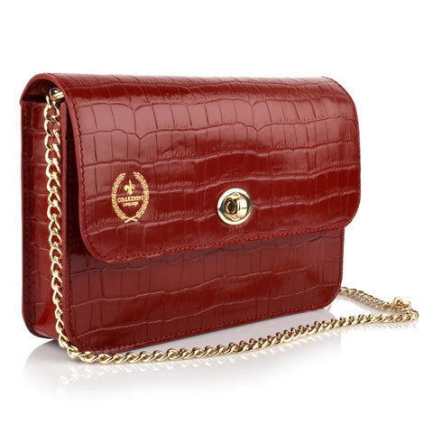 LG16003 - Collezione Nice Women's Deep Red Sling Bag