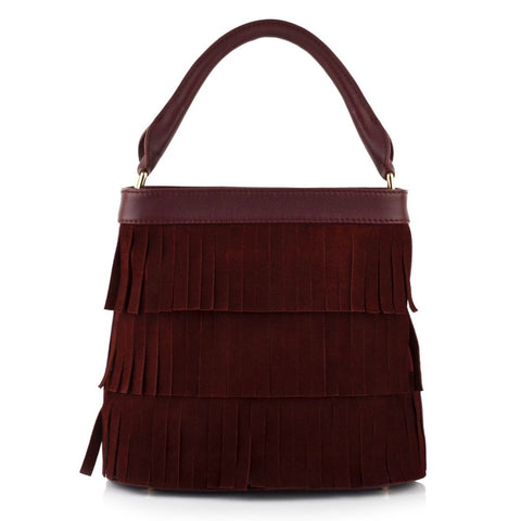 LG16009 - Collezione Toulon Women's Burgundy Bucket Bag