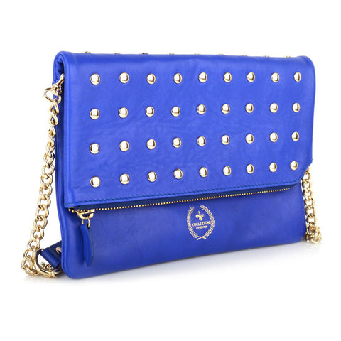 LG16014 - Collezione Chamonix Women's Blue Clutch Bag