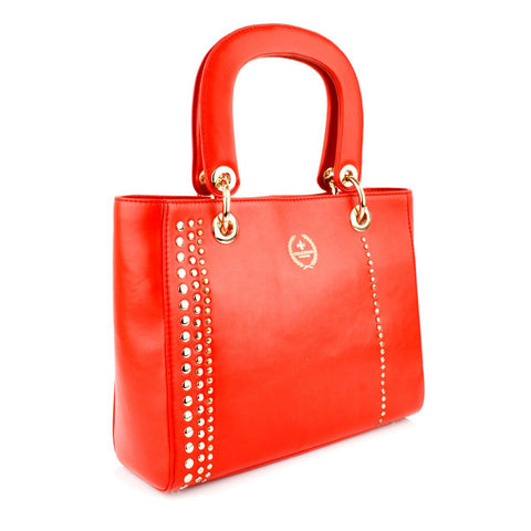 LG16017 - Collezione Nimes Women's Red Bucket Bag