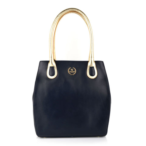 LG16029 - Collezione Angers Women's Navy Tote Bag