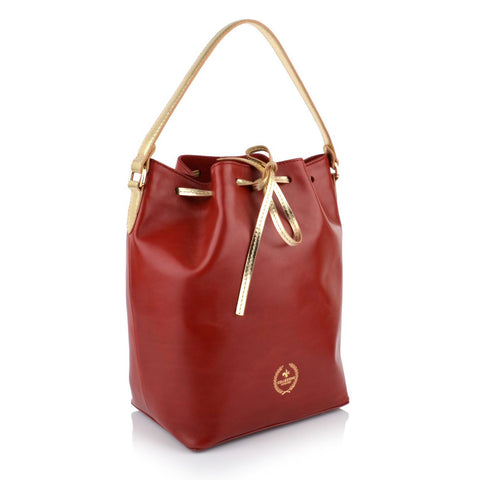 LG16034 - Collezione Amiens Women's Red Bucket Bag