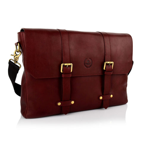 LG16039 - Collezione Chicago Men's Bordo Briefcase Bag