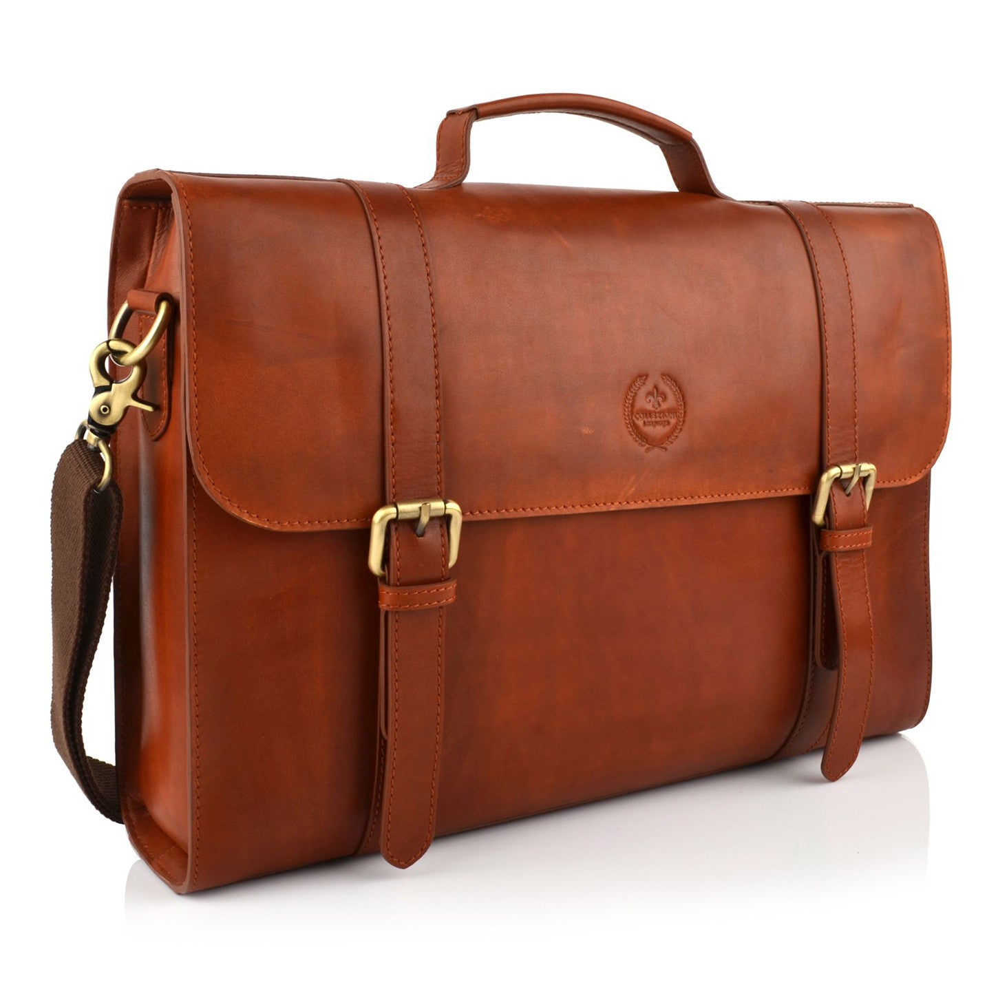 LG16043 - Collezione Denver Men's Tan Briefcase Bag
