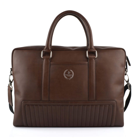LG16046 - Collezione Manhattan Men's Dark Brown Briefcase Bag