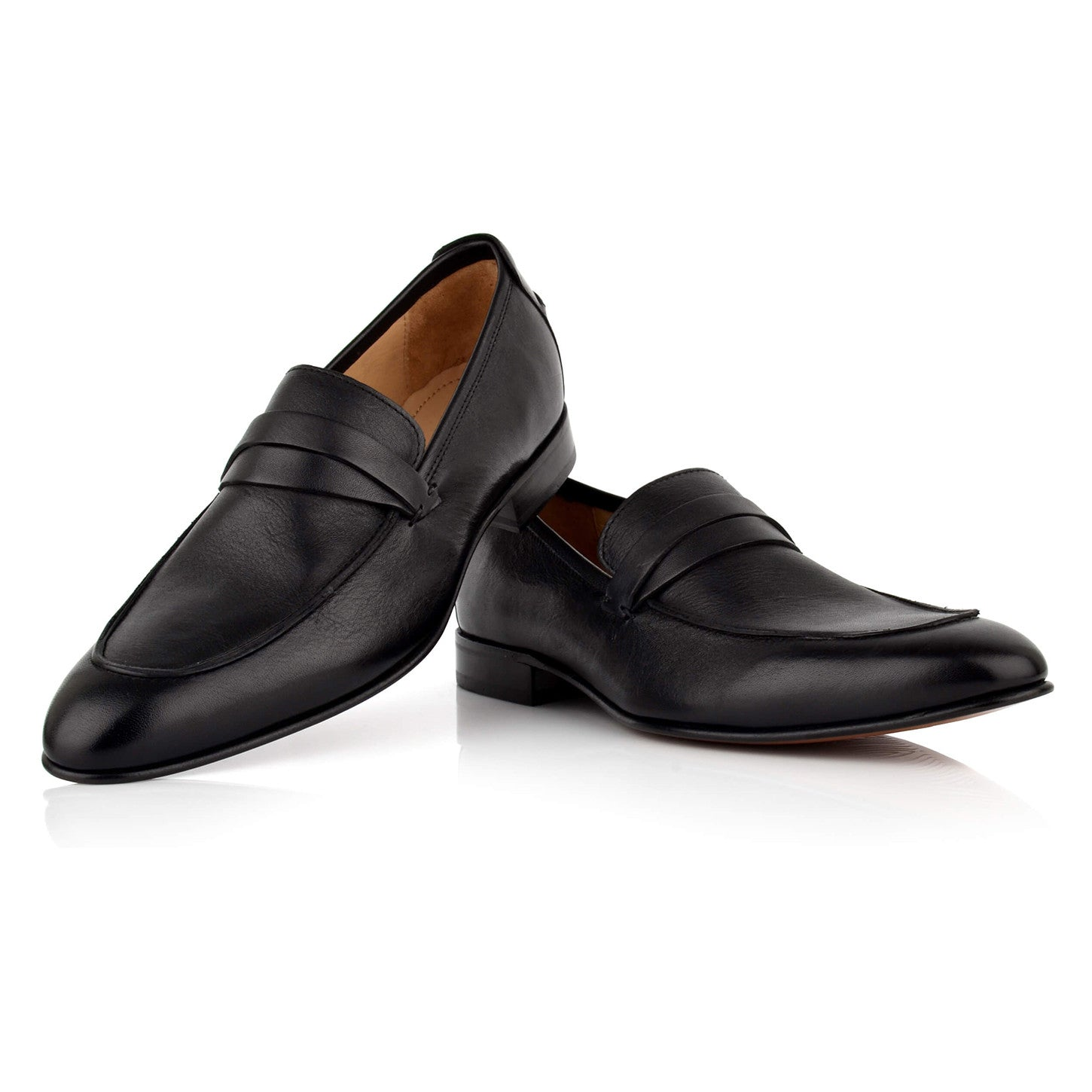 LM040 - Language Iosta Men's Formal Black Loafers