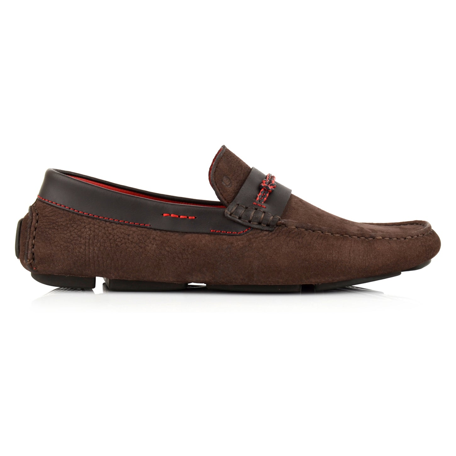 LM062 - Language Chief Men's Casuals Dark Brown Drivers