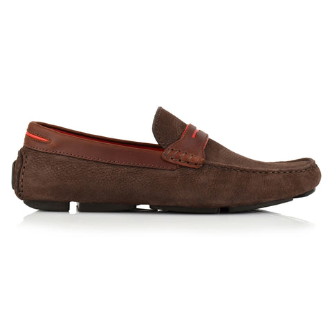 LM063 - Language Ace Men's Casuals Dark Brown Drivers