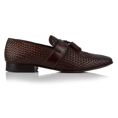 LM146 - Language Men's Woven Brown Loafers