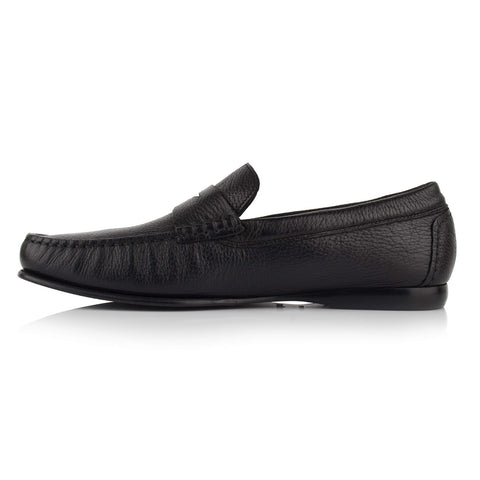 LM170 - Language Men's Exotic Black Moccasin