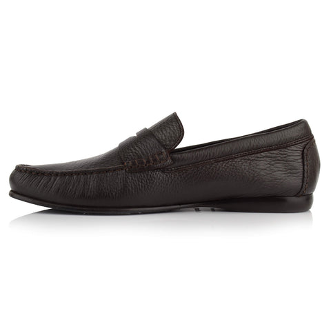 LM170 - Language Men's Exotic Dark Truffel Moccasin