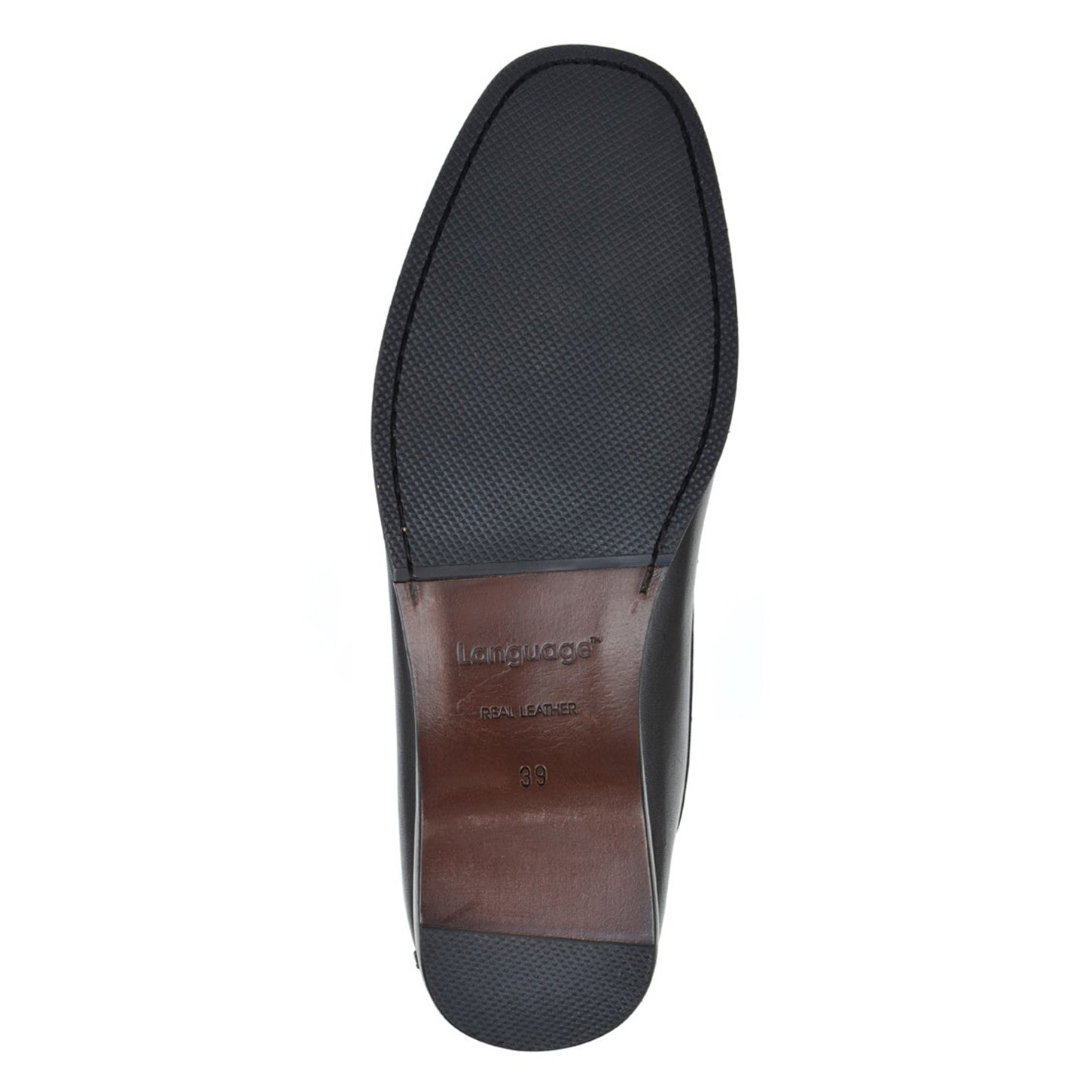 LM171 - Language Fissure Men's Formal Black Moccasins