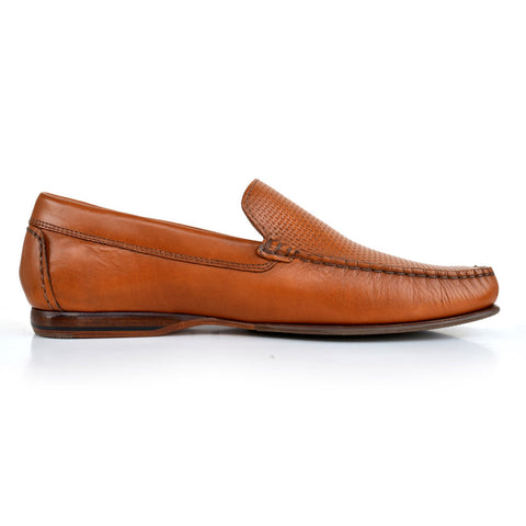 LM171 - Language Fissure Men's Formal Tan Moccasins
