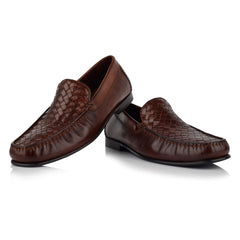 LM173 - Language Tisser Men's Dress Tan Moccasins