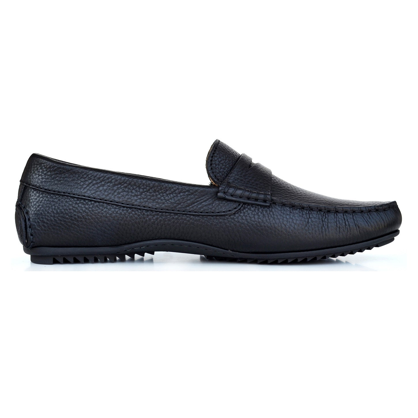 LM232 - Language Moscio Men's Casual Black Moccasins