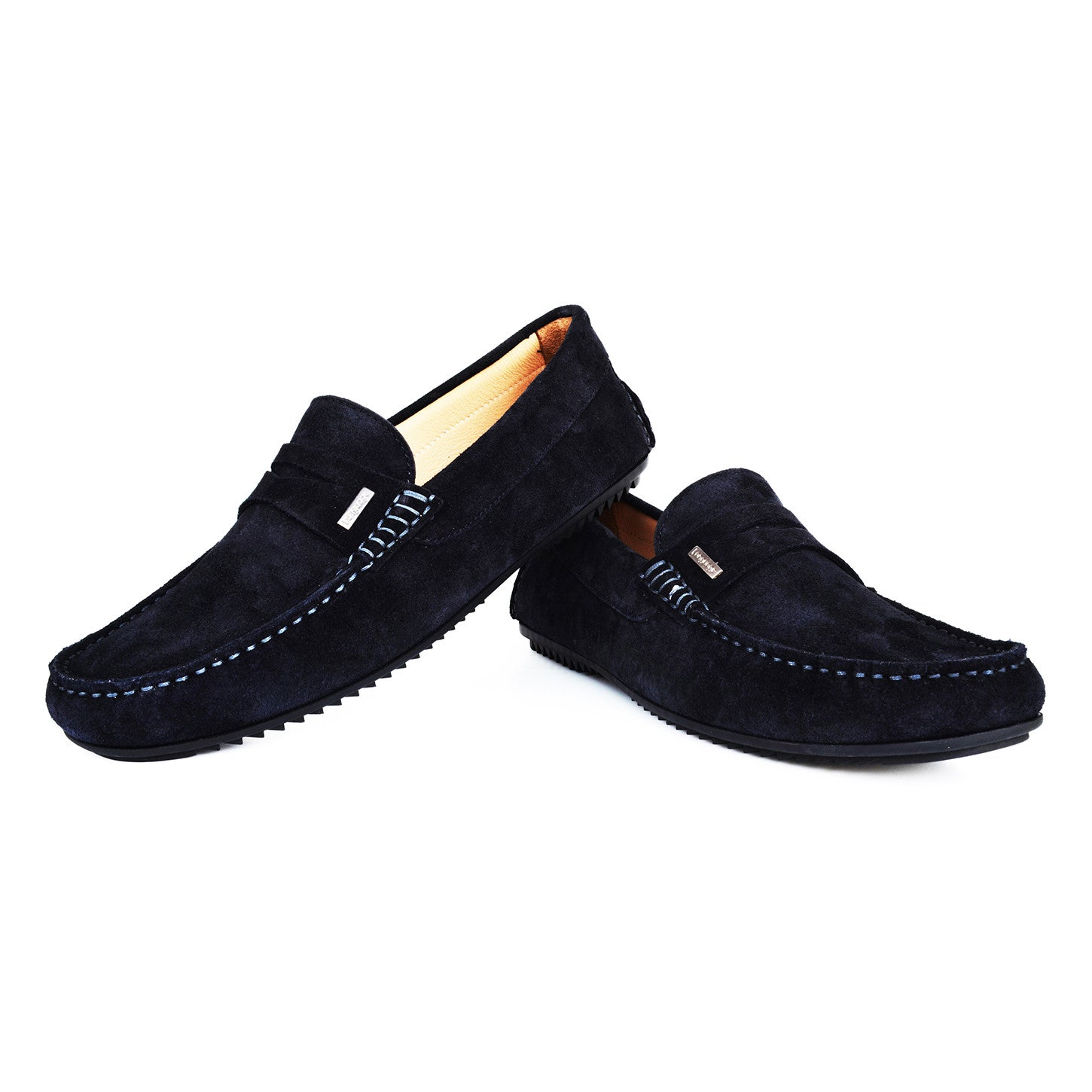LM232 - Language Moscio Men's Casual Navy Moccasins
