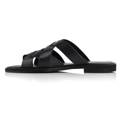 LM271 - Language Libero Men's  Black Slippers