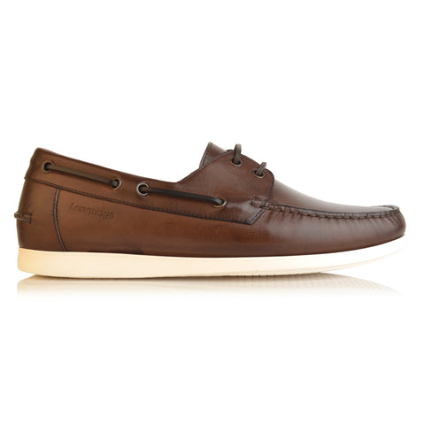 LM284 - Language Quartz Men's Brown Casual Boat Shoe