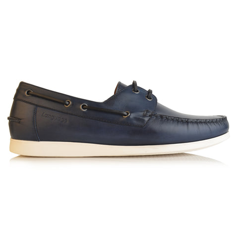 LM284 - Language Quartz Men's Navy Casual Boat Shoe