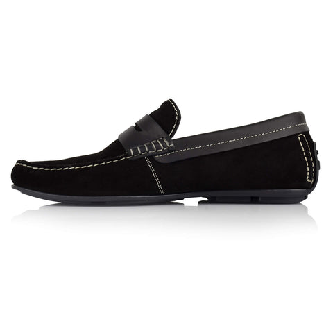 LM300 - Language Sofer Men's Casual Black Drivers